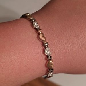 Jewelry - Mixed gold heart bracelet